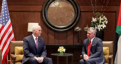 pJordan's king appealed Sunday to U.S. Vice President Mike Pence to rebuild trust and confidence in the possibility of a two-state solution to the Israeli-Palestinian conflict, following fallout...