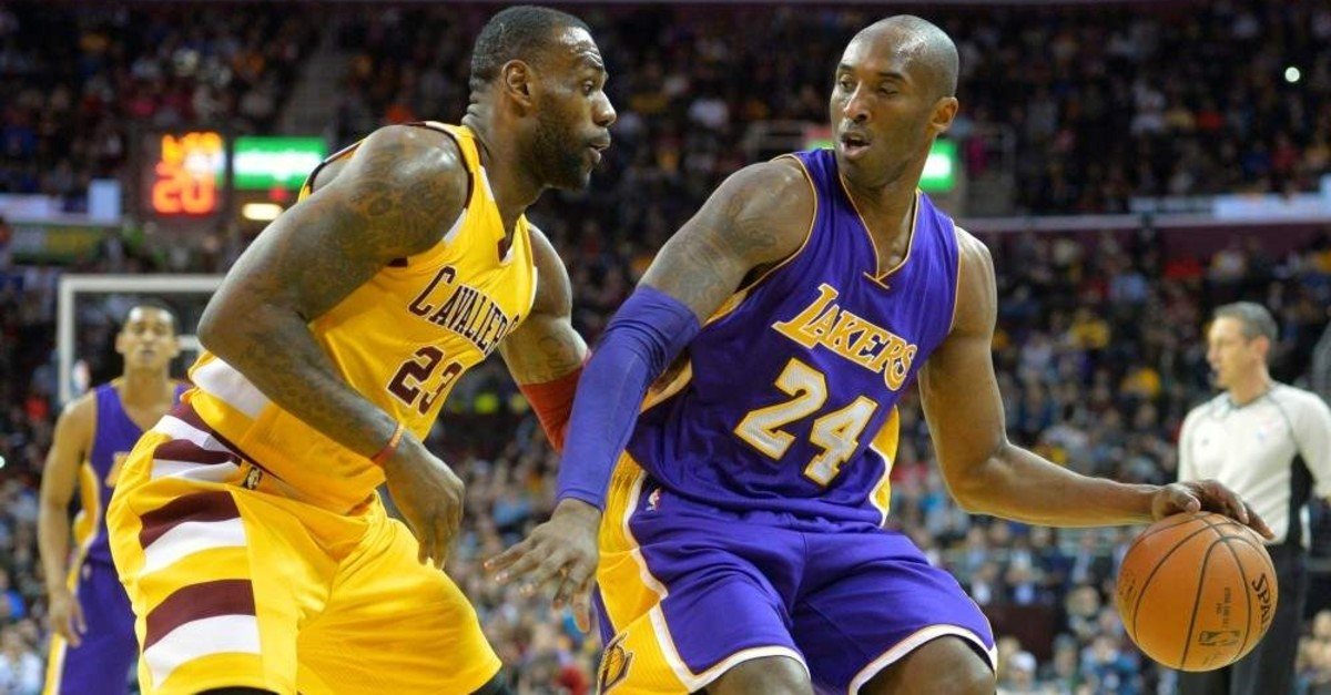 BBC issued an apology for mixing up LeBron James (L) and Kobe Bryant. (Reuters Photo)
