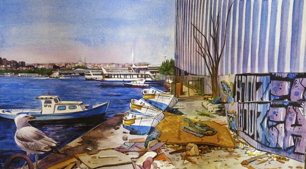 Participants of the Istanbul with Watercolors workshop will create modern paintings of Istanbul under the mentorship of Gabrielle Reeves.