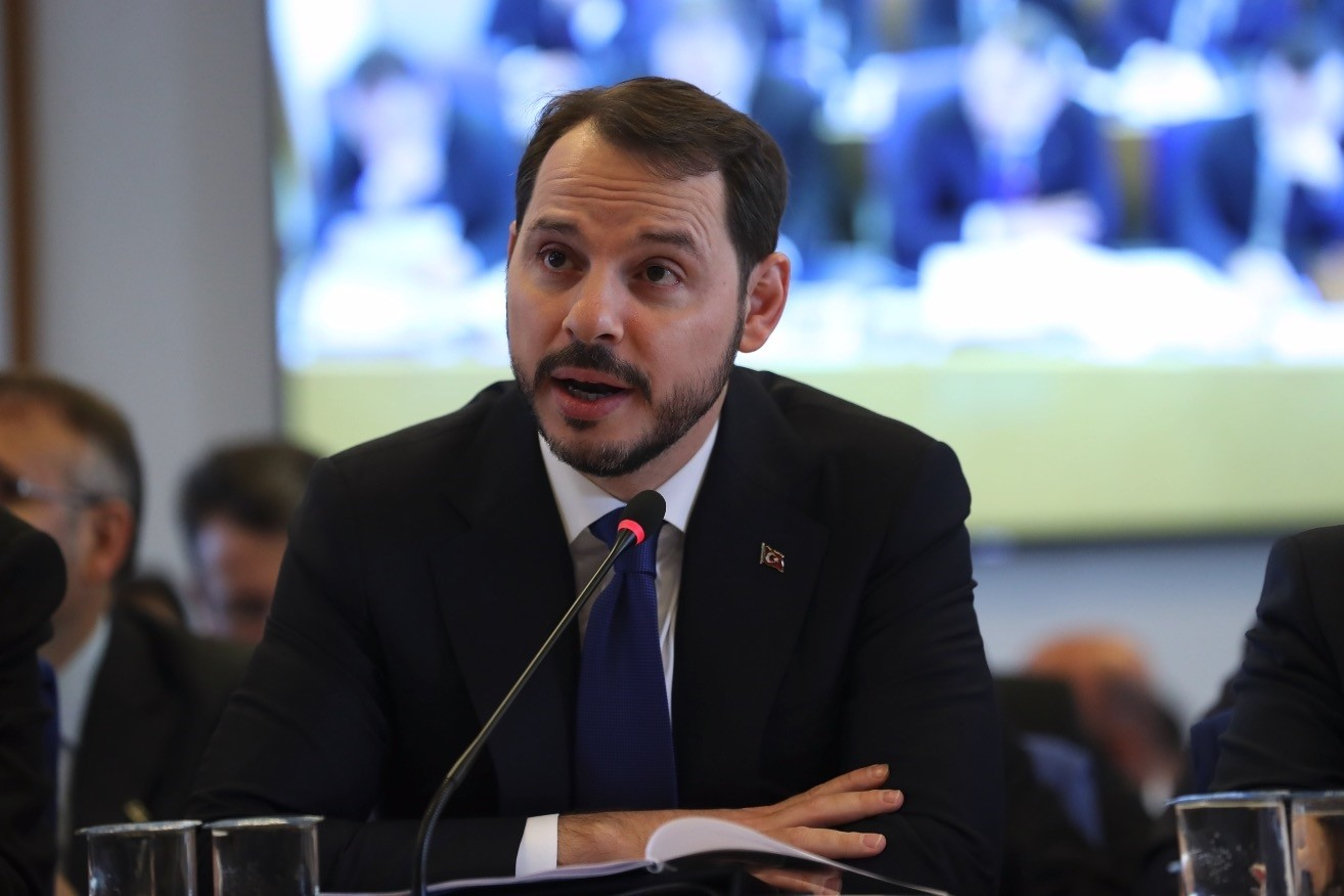 Treasury and Finance Minister Berat Albayrak speaks during his presentation at Parliamentu2019s Planning and Budget Commission, yesterday.