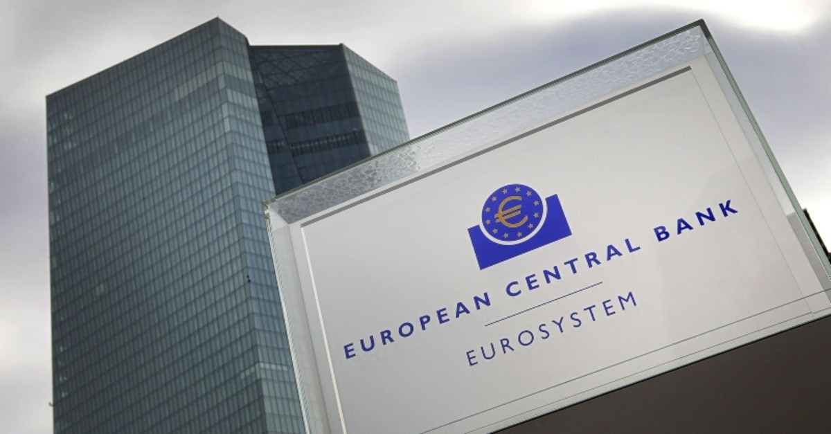 This file picture taken on Occt. 26, 2017 shows the building of European Central Bank in Frankfurt am Main, Germany. (AFP Photo)