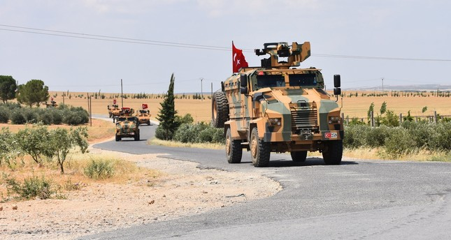 Turkish army carrying out second patrolling activity in Manbij, June 20.