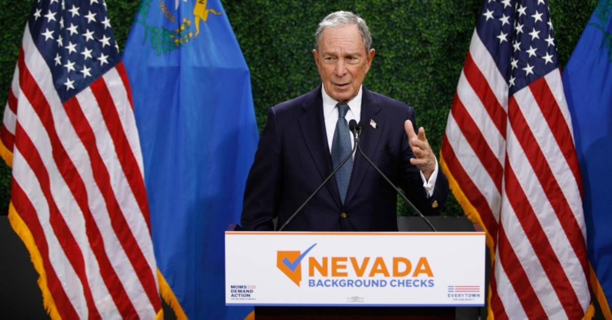Michael Bloomberg speaks at a news conference at a gun control advocacy event, Tuesday, Feb. 26, 2019, in Las Vegas. (AP Photo)