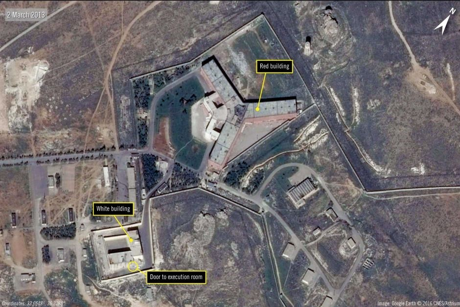 Amnesty said the deaths occurred at the Saydnaya prison complex, north of Damascus. (Photo courtesy of Amnesty International)