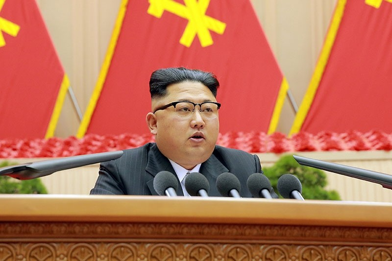 North Korean leader Kim Jong Un speaks during the first party committee meeting in Pyongyang, in this undated photo released by North Korea's Korean Central News Agency (KCNA) December 25, 2016. (via Reuters)
