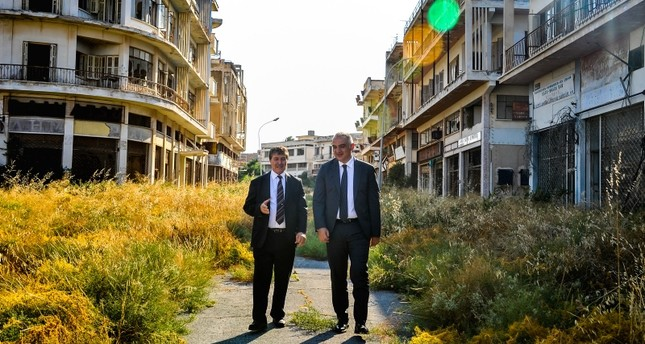 Turkish officials visit abandoned resort in TRNC