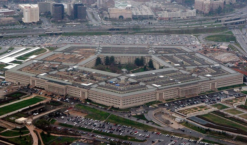 - In this March 27, 2008 file photo, the Pentagon is seen in this aerial view in Washington, D.C., U.S. (AP Photo)