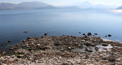 Climate change causes one of Turkey's largest lakes to shrink