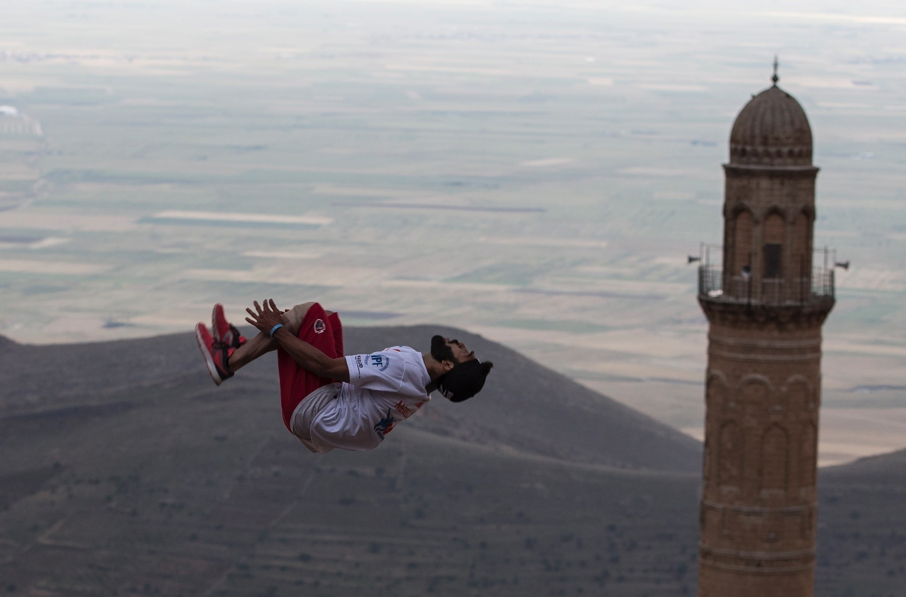 Parkour masters Mardin provided a good backdrop for parkour athletes.