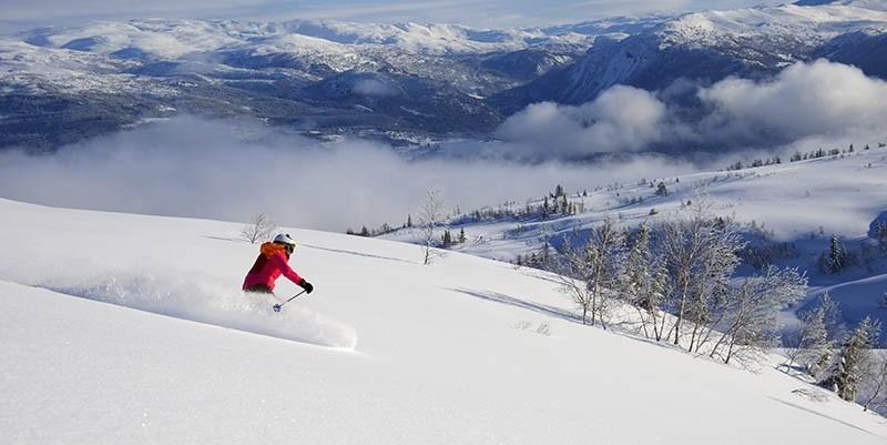 A skier on Erzurum's Palandu00f6ken Mountain (Sabah File Photo)
