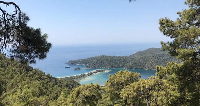 A view of Ölüdeniz, Fethiye when leaving Doğa Kamp.