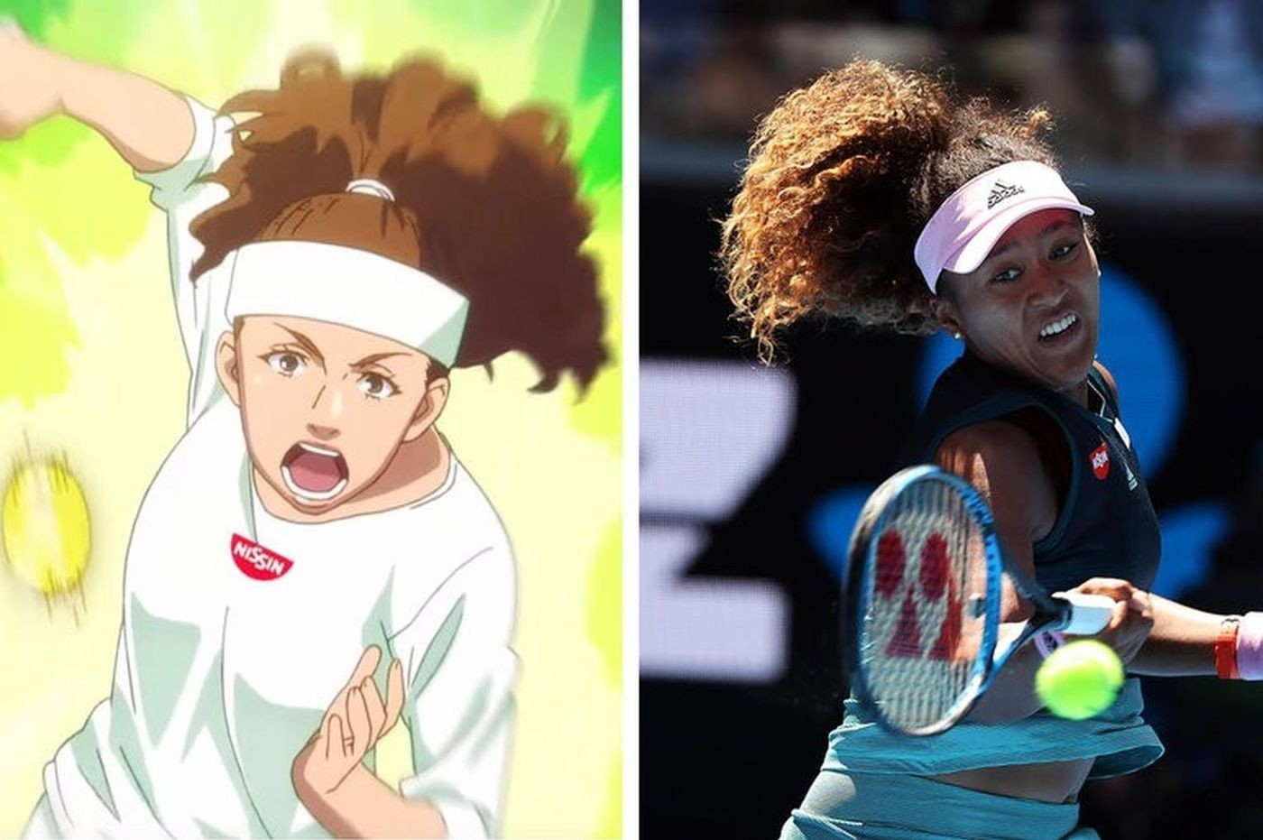 Japanese noodle firm Nissin announced Thursday it was scrapping an ,anime, advert featuring tennis star Naomi Osaka. (REUTERS Photo)