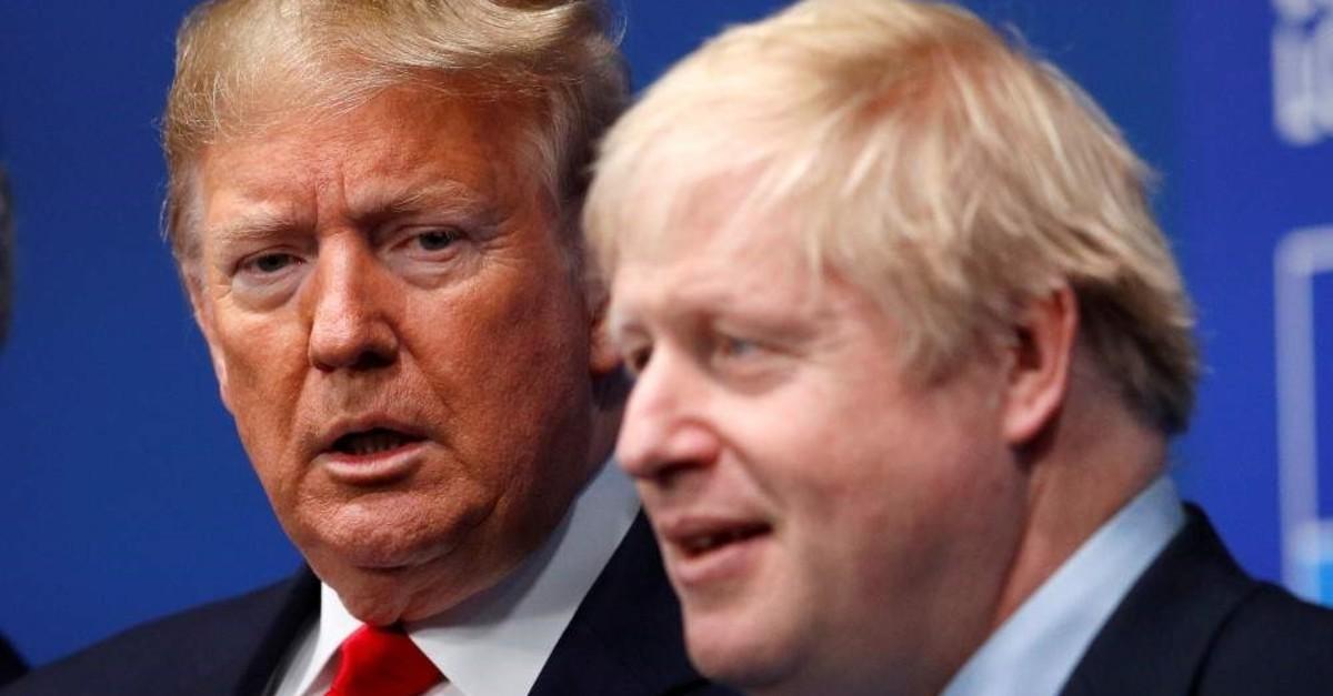 Britain's Prime Minister Boris Johnson welcomes U.S. President Donald Trump at the NATO leaders summit, Watford, Britain, Dec. 4, 2019. (Reuters Photo)