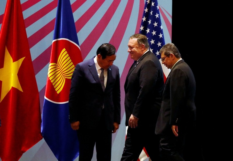 U.S. Secretary of State Mike Pompeo attends an ASEAN-U.S. Ministerial Meeting in Singapore August 3, 2018. (REUTERS Photo)