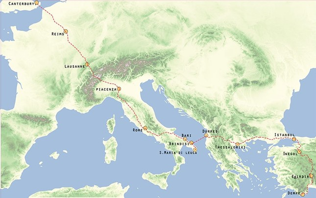 Culture Routes Society unveils walking route map from Europe to ...