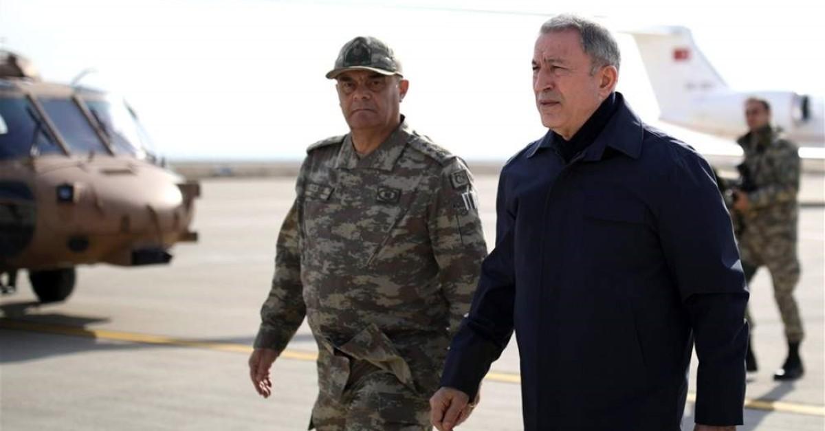 Defense Minister Hulusi Akar went to border province of Hatay, Feb.3,2020. (AA PHOTO)