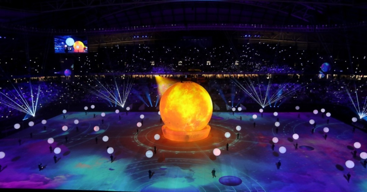 General view during the opening ceremony of Al Wakrah Stadium on May 16, 2019, in Al Wakrah, Qatar. (Reuters Photo)