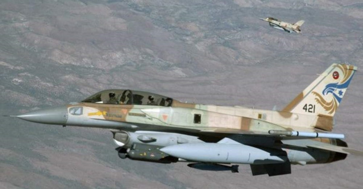 Two of the Israeli Air Force's F-16s fly from Ramon Air Base, Israel. (U.S. Air Force Photo)