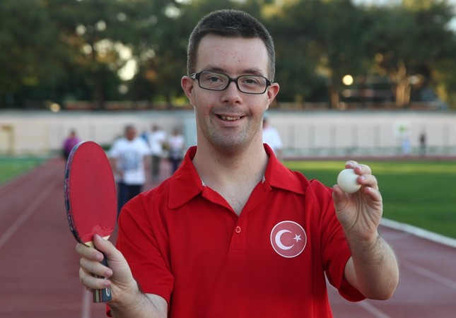 Erman Çetiner has so far won around 100 medals, including a third place finish at the world championship for Down syndrome players.