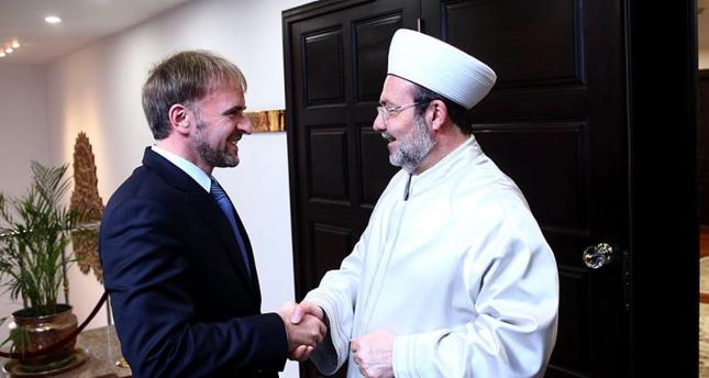 رئيس الشؤون الدينية التركي يستقبل السفير البوسني الجديد لدى أنقرة