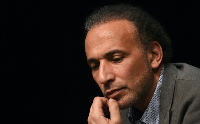 Professor Tariq Ramadan takes part in a conference on the theme Live together in Bordeaux, March 26, 2016.