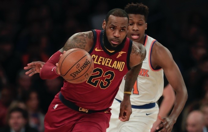LeBron James played in his 82nd game, scored 10 points and then got some rest for the playoffs as the Cavaliers concluded their regular season with a 110-98 loss on Wednesday night to New York.