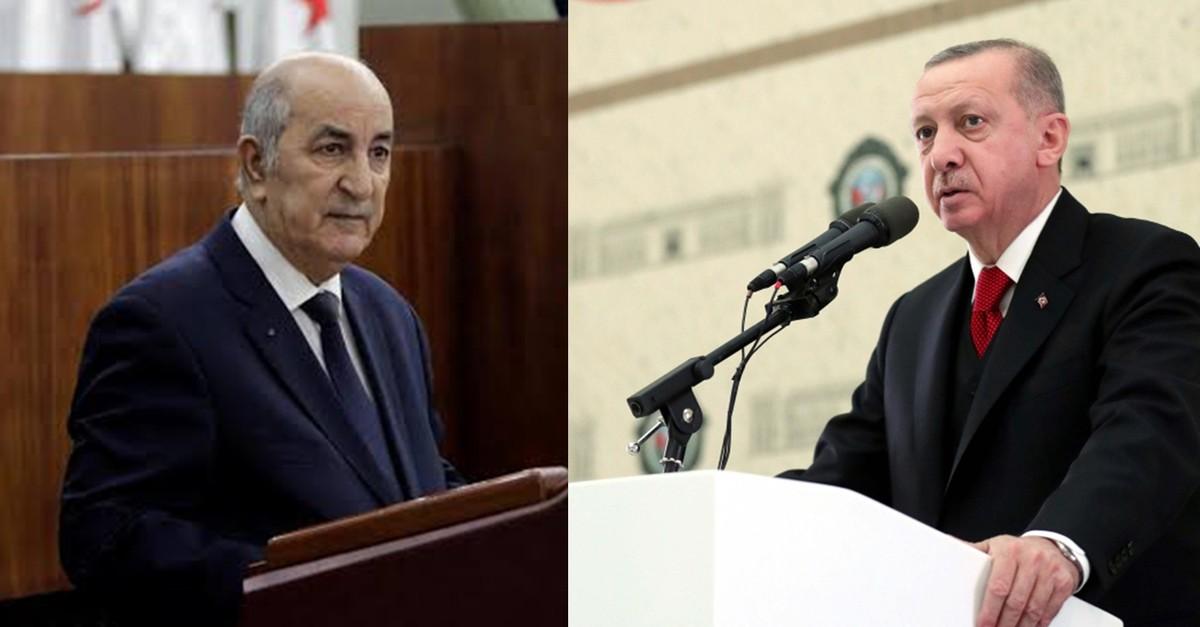 Algeria's Tebboune (L) and Erdou011fan