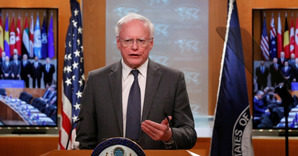 U.S. special envoy for Syria and the Global Coalition to Defeat Daesh Jim Jeffrey speaks during a news conference at the State Department in Washington, U.S., November 14, 2019. (Reuters Photo)