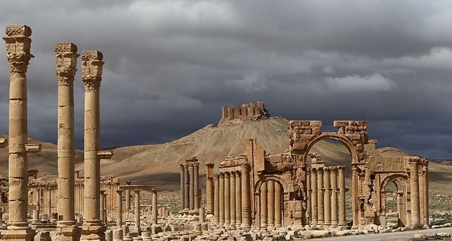 A partial view of the ancient city of Palmyra in March 2014, one year prior to its seizure and destruction by a group of Daesh terrorists advancing through northern Syria near the Turkish border.