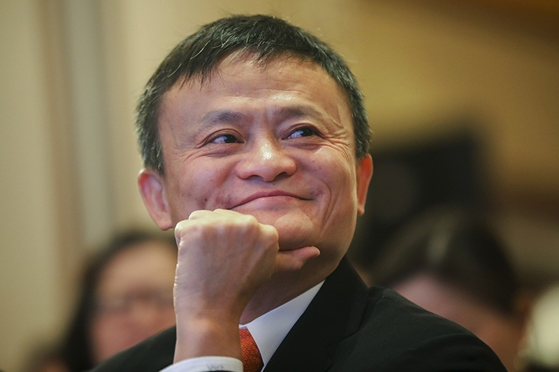 In this June 25, 2018, photo, Jack Ma, chairman of Alibaba Group attends the ceremony to launch a blockchain-base remittance solution in Hong Kong. (AP Photo)