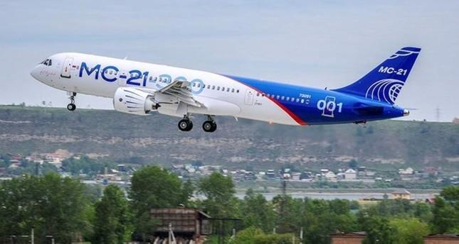 An MS-21 medium-range passenger plane takes off in Irkutsk, Russia, May 28, 2017. Reuters Photo