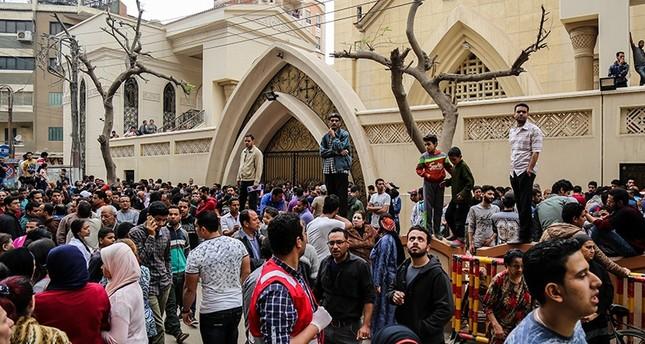 كنيسة مار جرجس بمحافظة طنطا شمالي مصر