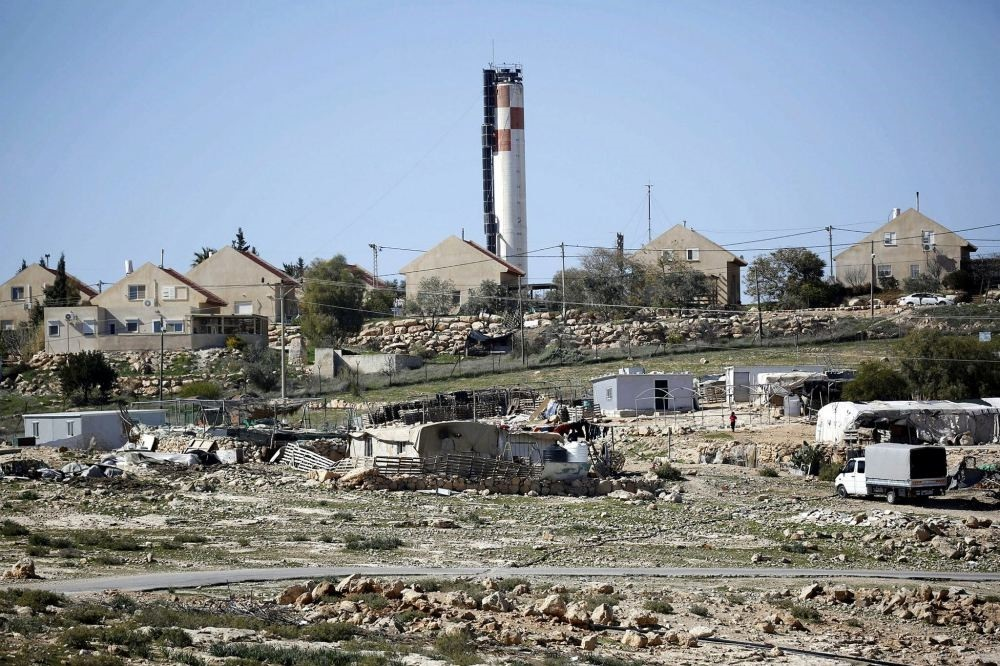 A general view of the Karmel settlemets in the West Bank village of Um al-khair, south of Hebron, Feb. 7.
