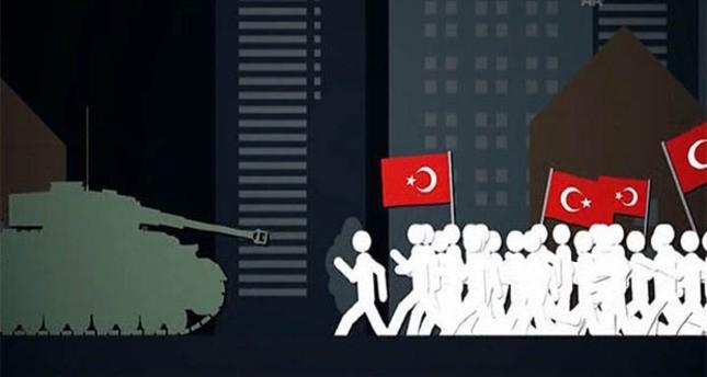 فيلم أنيميشن قصير يصور مقاومة الشعب التركي لمحاولة الانقلاب