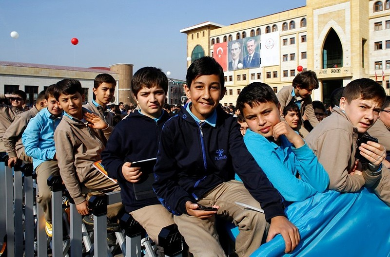 Students at Tevfik u0130leri Middle School in Ankara pose for a photo (Reuters File Photo)