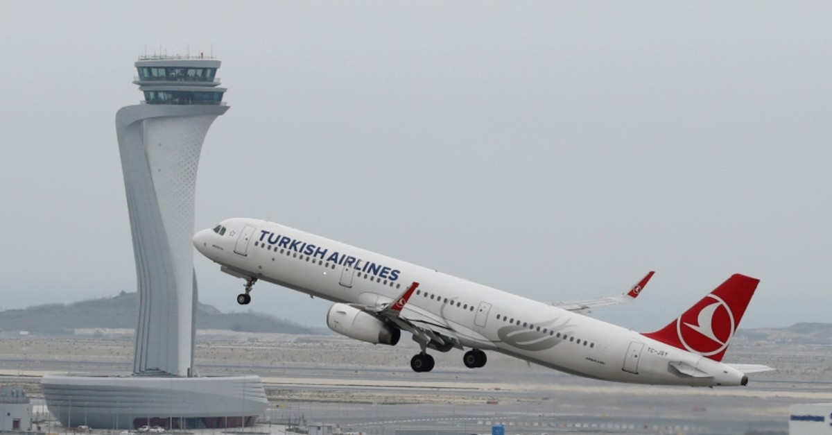 A Turkish Airlines Airbus A321-200 plane takes off from the city's new Istanbul Airport in Istanbul, Turkey, April 6, 2019 (Reuters Photo)