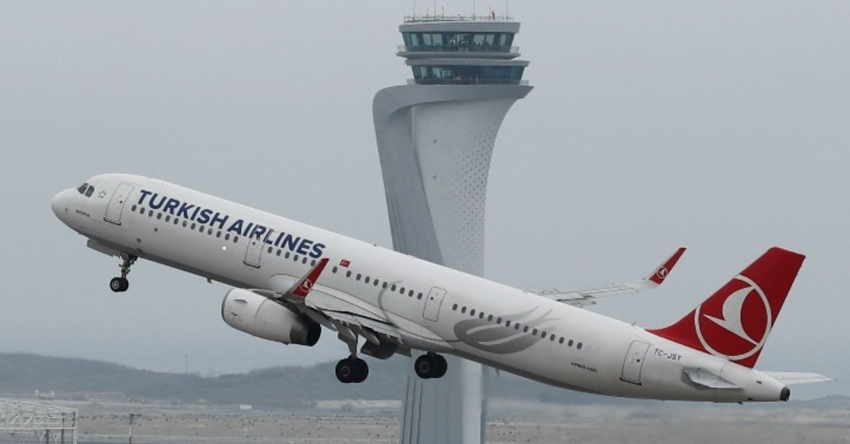 A Turkish Airlines plane takes off from Istanbul Airport, April 6, 2019.