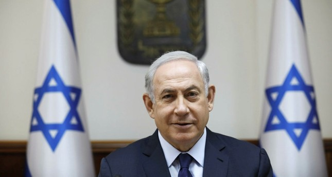 Israeli Prime Minister Benjamin Netanyahu attends the weekly cabinet meeting at his office in Jerusalem on July 30, 2017. (AFP Photo)