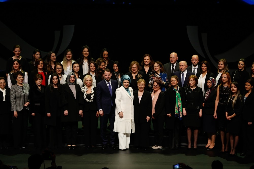 Energy and Natural Resources Ministry held the ,Women Empowering Turkey, awards ceremony to honor women who have contributed to the Turkish energy industry to inspire the involvement of more women in the male-dominated sector, Istanbul, March 6.