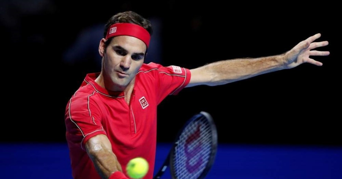 Roger Federer in action against Australia's Alex de Minaur, Basel, Oct. 27, 2019. (REUTERS Photo)
