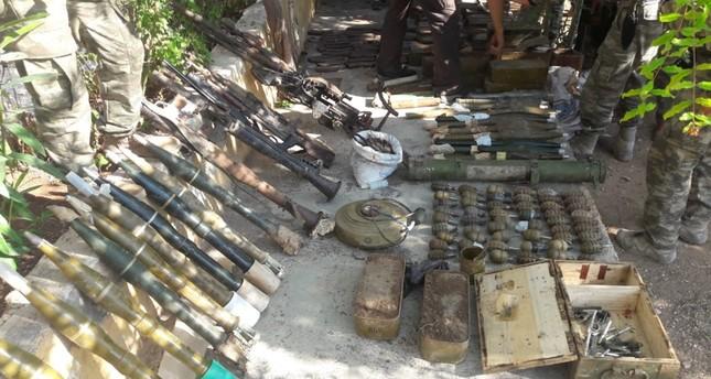 قوات غصن الزيتون تضبط كميات كبيرة من الأسلحة في عفرين
