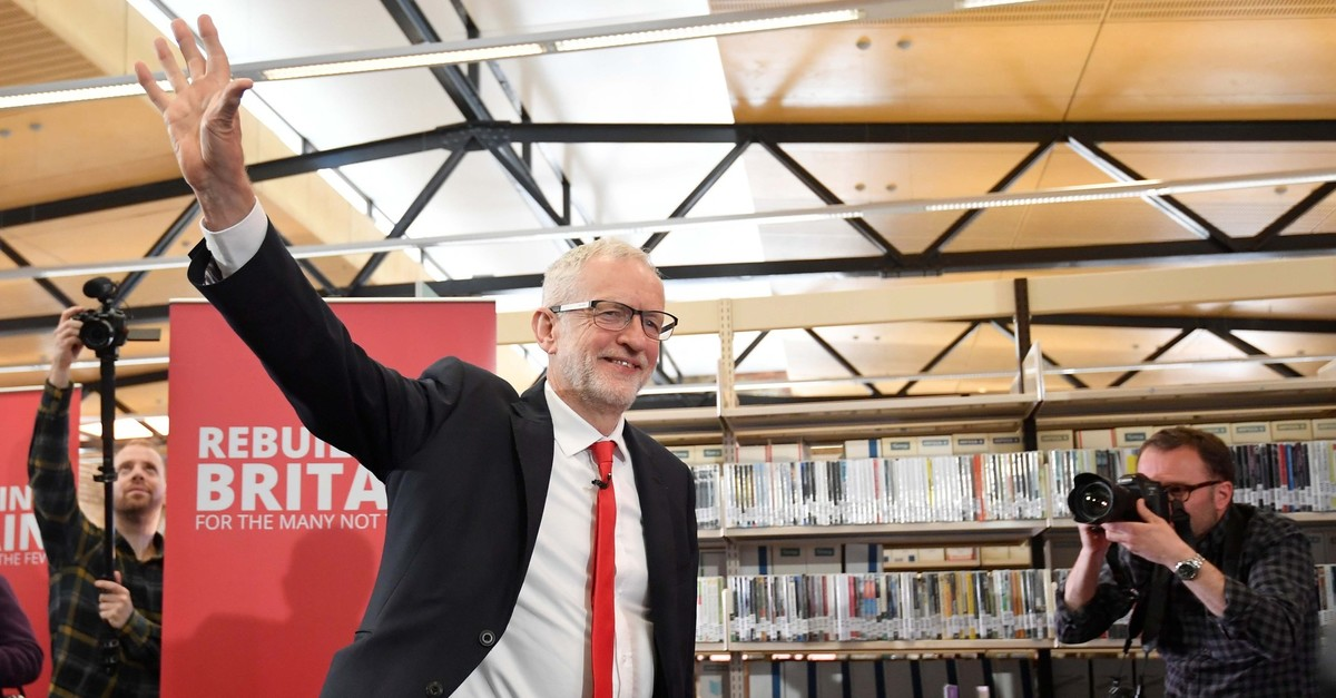 Britain's opposition Labour Party leader Jeremy Corbyn arrives for the launch of Labour's European election campaign in Kent, Britain, May 9, 2019. (Reuters Photo)