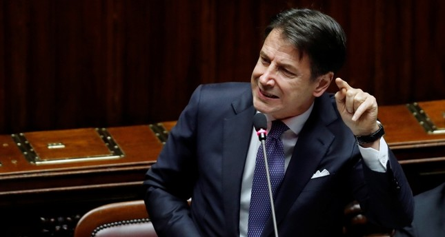 Italian Prime Minister Giuseppe Conte speaks ahead of a confidence vote at the Parliament in Rome, Italy, September 9, 2019. (Reuters Photo)