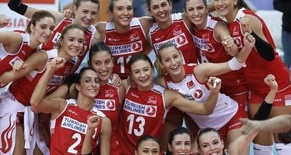 """pDie sogenannten """"Sultane des Netzes gewannen am Freitag im Viertelfinale der """"Frauen-Volleyball-Europameisterschaft 2017 gegen Russland und qualifizierten sich somit für das..."""