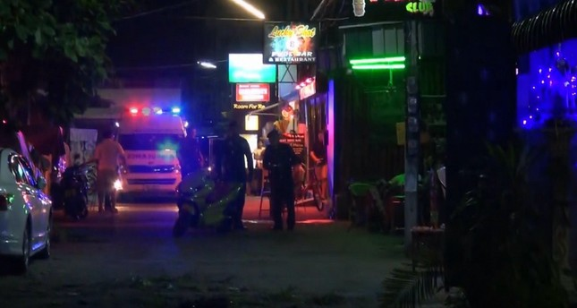 In this screen grab taken from video, emergency services at the scene of a bomb attack, in Hua Hin, Thailand, Thursday, Aug. 11, 2016. (AP Photo)