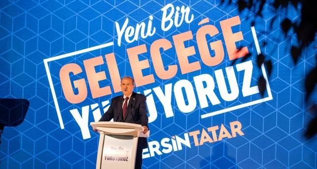 رئيس وزراء جمهورية شمال قبرص التركية في حملته الانتخابية للرئاسة الأناضول