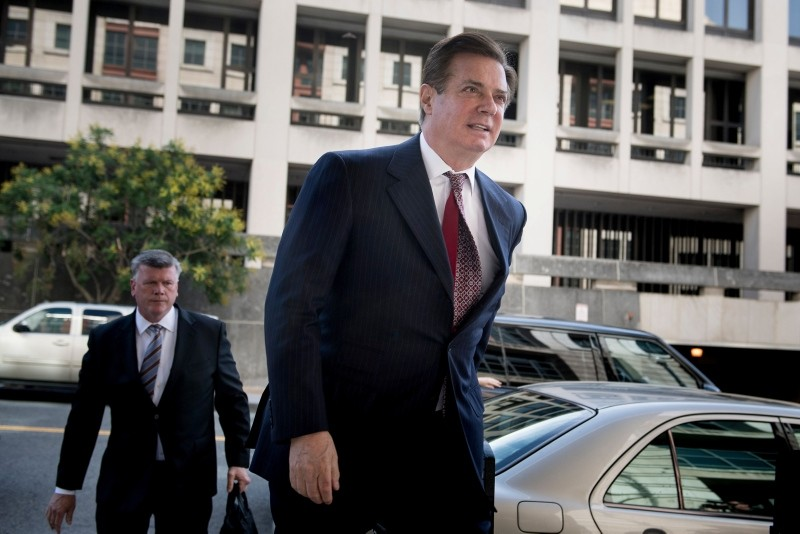 In this file photo taken on June 15, 2018 Paul Manafort, Donald Trump's former campaign chief, arrives for a hearing at US District Court in Washington, DC. (AFP Photo)