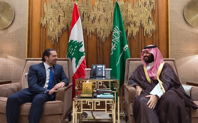 In this Monday, Oct. 30, 2017 file photo, released by Lebanon's official government photographer Dalati Nohra, Saudi Crown Prince Mohammed bin Salman, right, meets with Lebanese Prime Minister Saad Hariri in Riyadh, Saudi Arabia. (AP Photo)