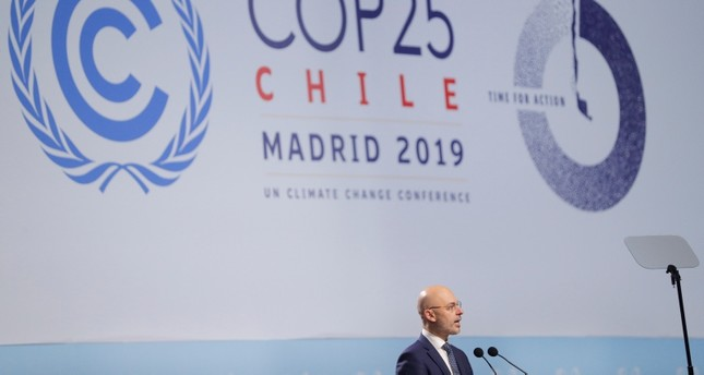Michal Kurtyka, Poland's Climate Minister and COP24 president, speaks at the opening ceremony of the 2019 U.N. climate change conference (COP25) in Madrid, Spain, December 2, 2019.(Reuters Photo)