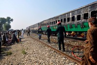 At least 71 killed in Pakistan train fire after cooking accident